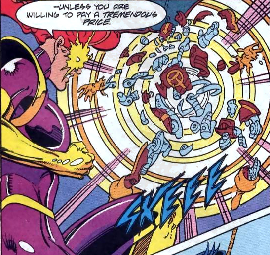 In 'Justice League of America' #75, Maxima pulls apart Red Tornado.