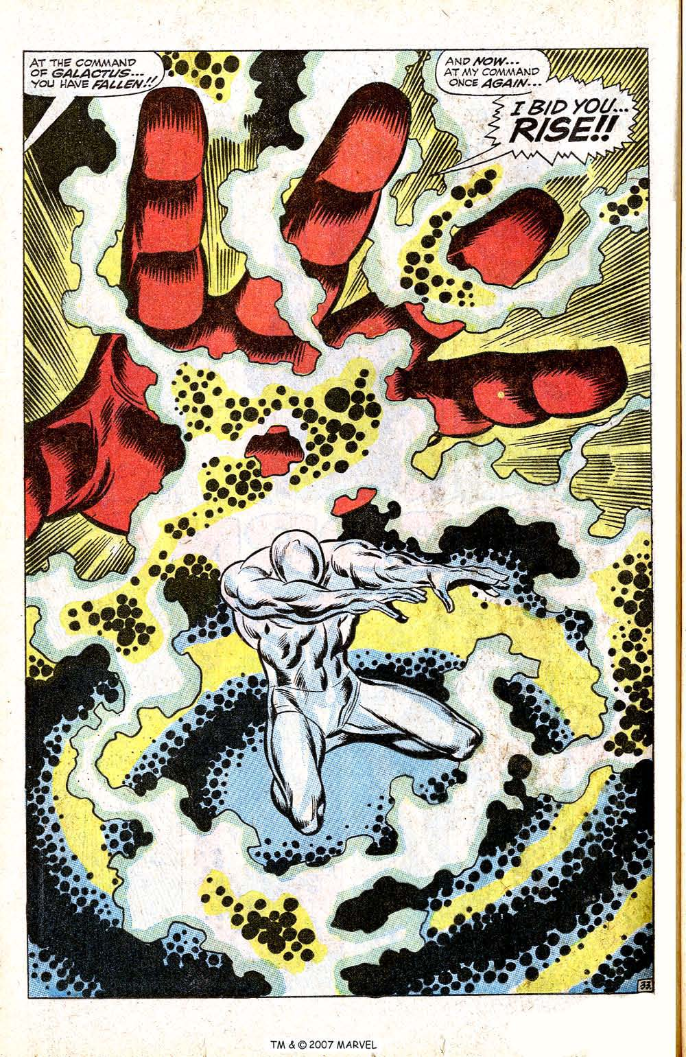 In 'Silver Surfer' (1968) #1, In a desperate attempt to save his planet from destruction at the awesome power of Galactus, Norrin Radd swore to become the Silver Surfer.
