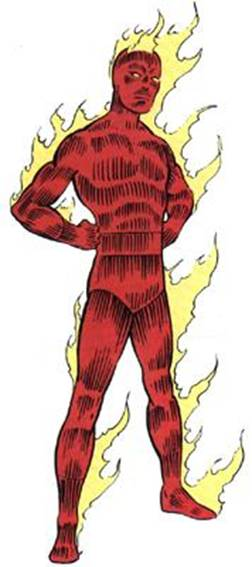 The Human Torch.