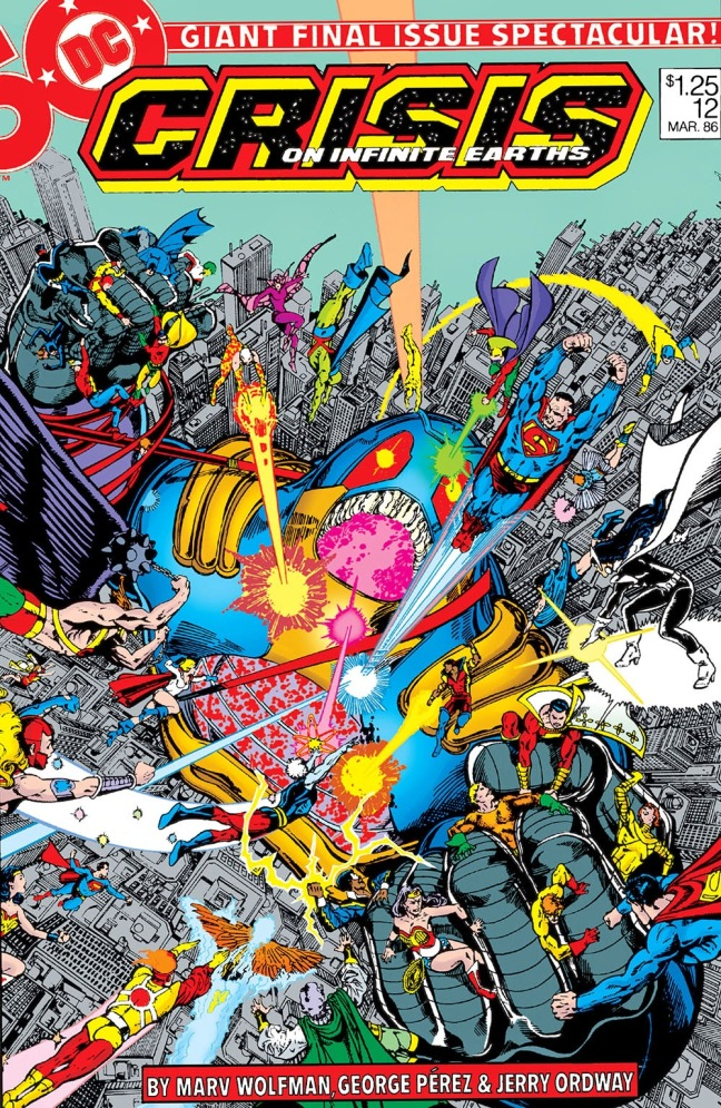 The heroes of the DC multiverse battling the Anti-Monitor in one 'final crisis'!