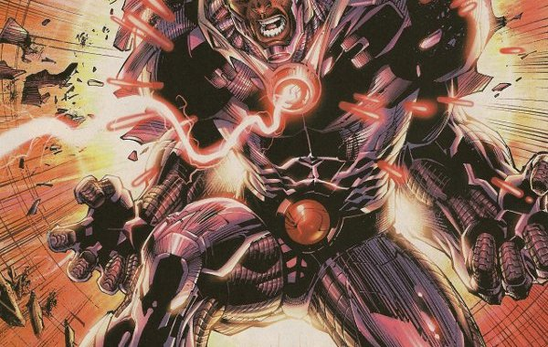 In 'Justice League #6' (2012), Cyborg uses the power of the Father Box that is bonded to his interface to close the Boom Tubes and send Darkseid back to Apokolips, ending the invasion. (Photo/DC Comics)