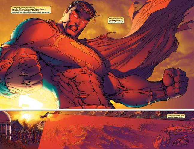"In 'Superman/Batman #10' (2004), Superman vaporizes an army of Dr. Bedlam's Doomsday ""animates"" with a wide intensity blast of heat vision on Themyscira."