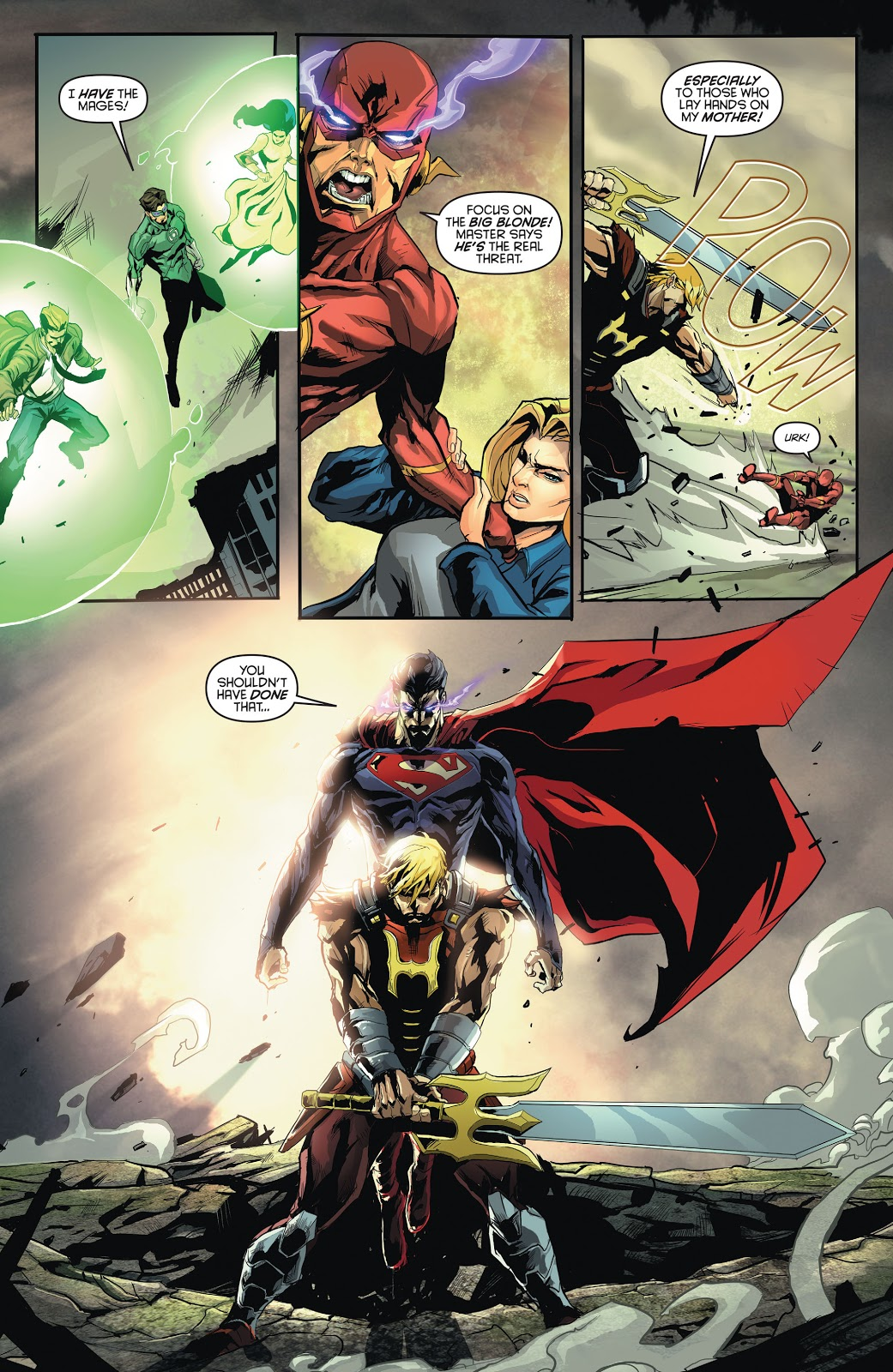 In 'DC Universe vs The Masters Of The Universe' (2013) #2, is the second encounter of a mind-controlled Superman and He-Man.