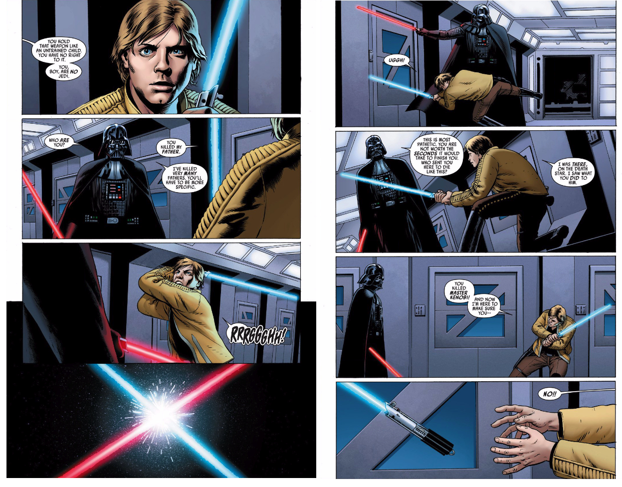 In 'Star Wars' (2015) #2, Luke Skywalker goes toe-to-toe with Darth Vader.
