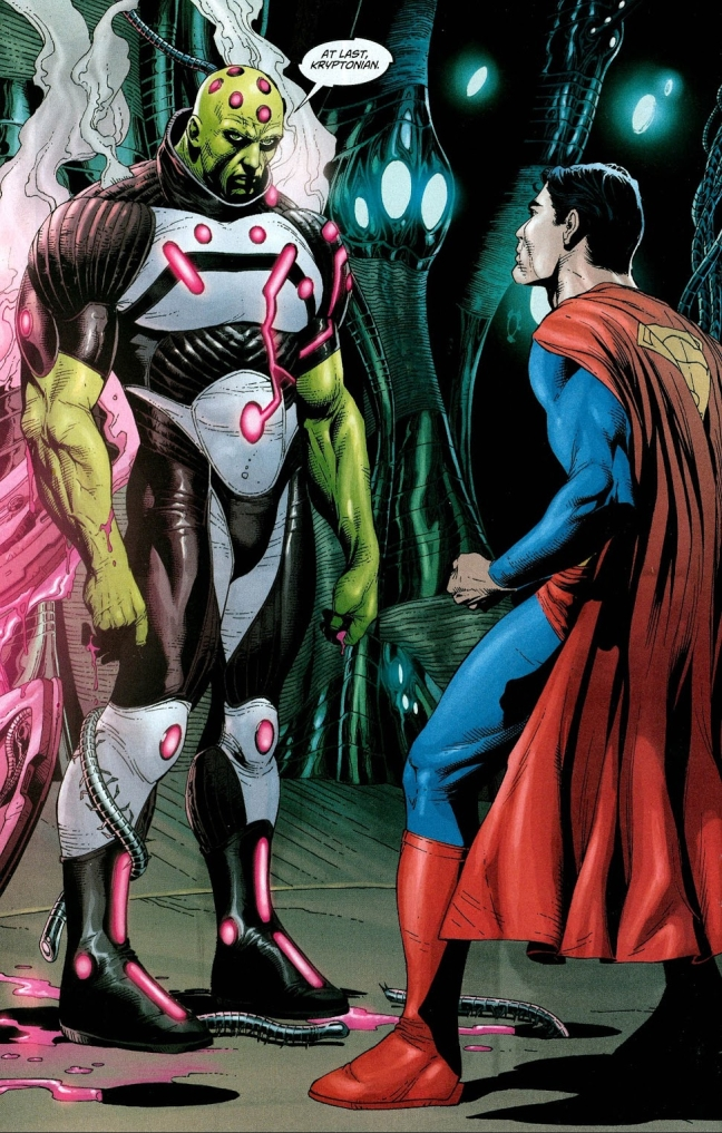 In 'Action Comics' (2008) #868, Superman meets Brainiac's main AI for the first time.