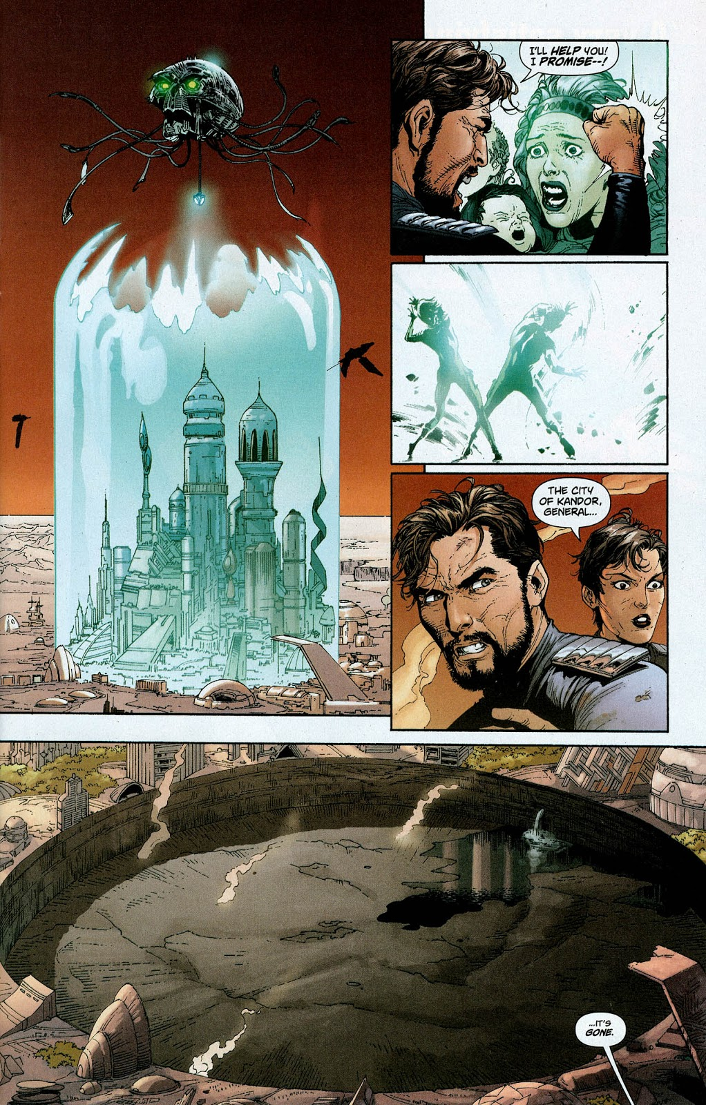 In 'Action Comics' (2008) #866, General Zod and Ursa watch as Brainiac steals Kandor on Krypton 35 years ago.