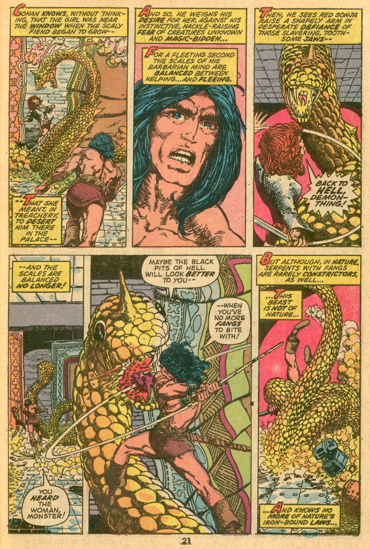 In 'Conan The Barbarian' (1973) #24, Conan and Red Sonja retrieve the Serpent Tiara.