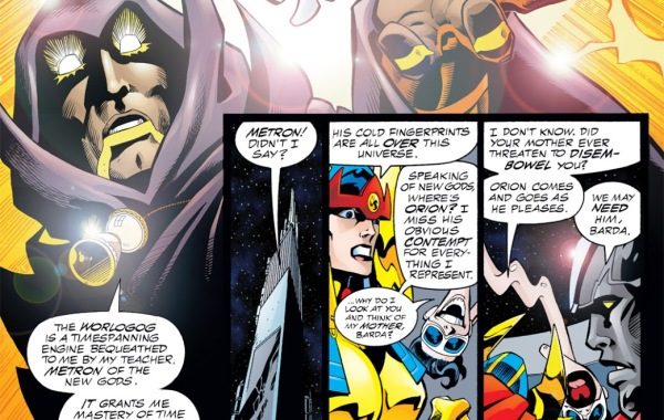 "In 'DC One Million' (1998) #1, Hourman speaks of the Worlogog which grants him ""mastery of time and space."""