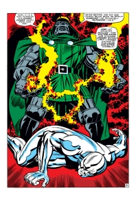 In 'Fantastic Four #57' (1968), Doctor Doom uses high intensity inductors to steal the Silver Surfer's Power Cosmic.