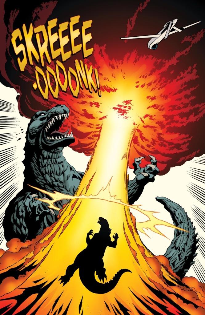 undefinedIn 'Godzilla: Kingdom Of Monsters' (2011) #1, Godzilla takes a nuclear blast.