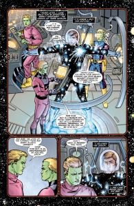 """In 'Justice Society Of America Kingdom Come Special: Magog #1' #2009 titled """"Magog: The Real Me"""" , Starman tells of his origin story. During the story, we learn that three Brainiac 5s from a legion of three worlds actually constructed Starman's suit as a map of the DC multiverse."""