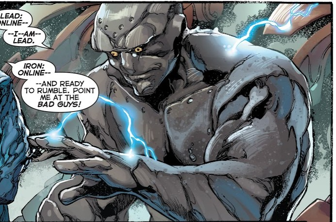 In 'Justice League' (2014) #28, Lead comes online third.