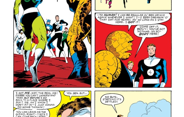 In 'Marvel Super Heroes Secret Wars' (1985) #12, She-Hulk accompanied by the Thing, joins the Fantastic Four.