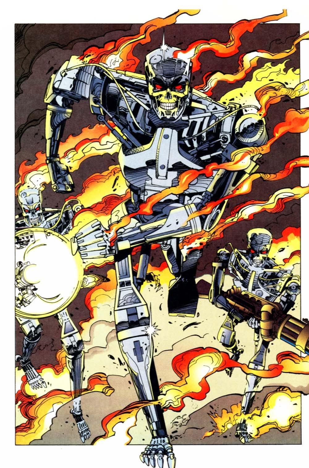 In 'Robocop versus The Terminator' (2014) #2, three Terminators storm a hospital whose mission it is to terminate Robocop.