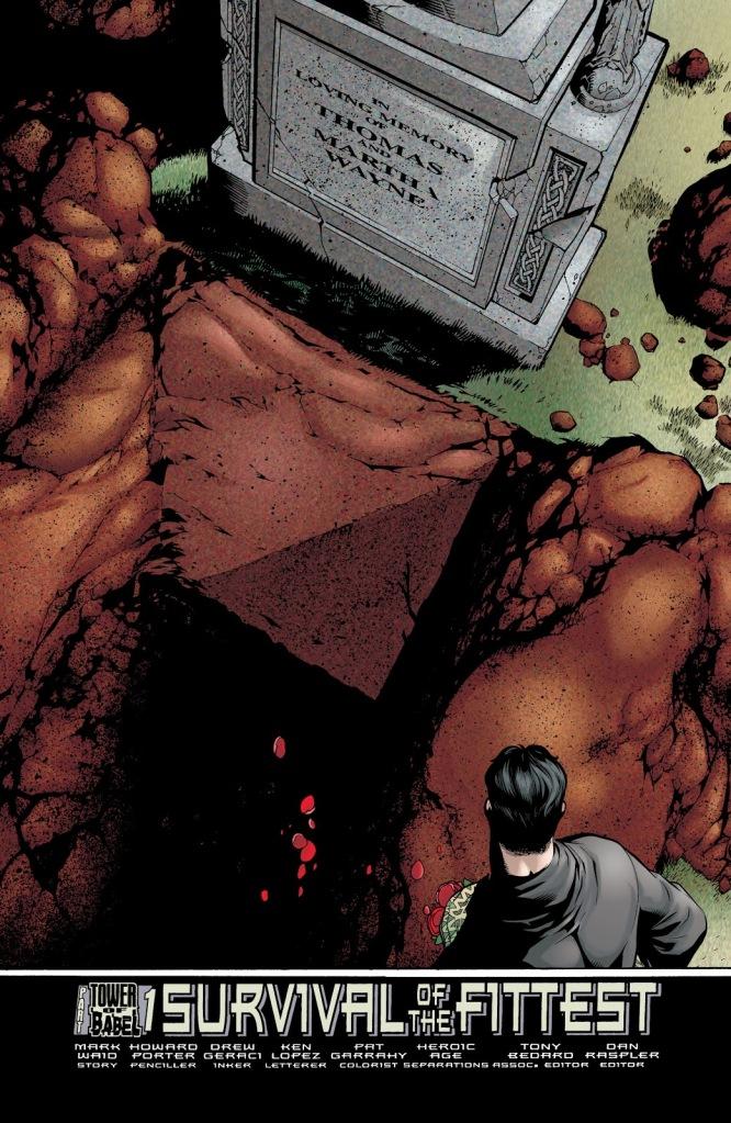 In 'JLA' (2000) #43, a supervillain steals Bruce Wayne's parents' coffins.