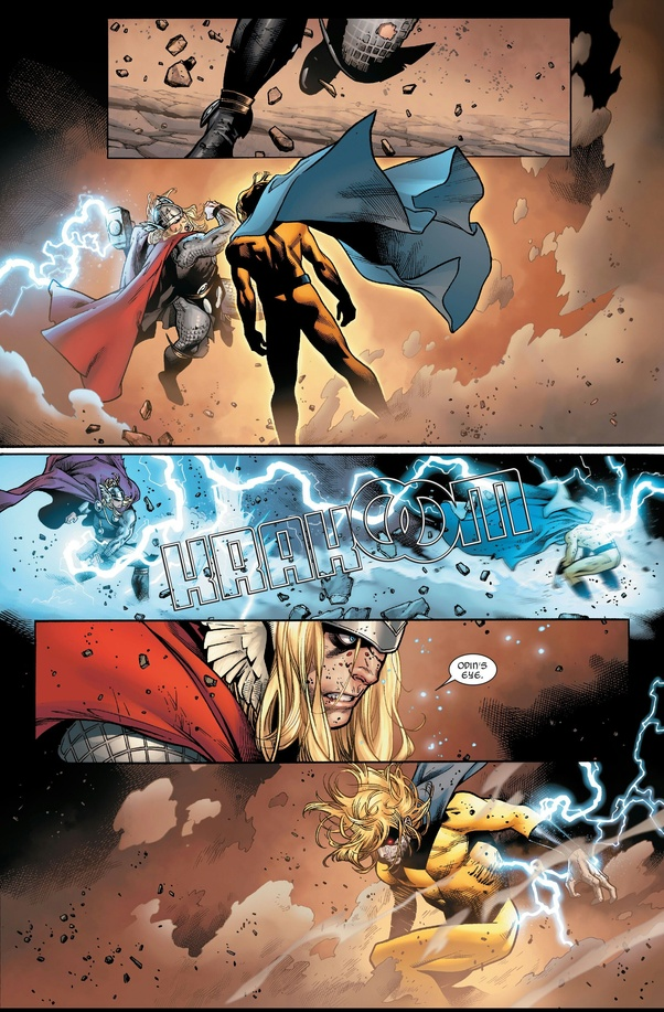 Thor vs Void Sentry fighting in the fan-voted Battles Of The Week.