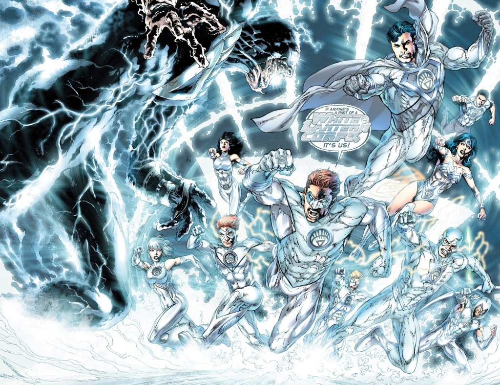 In 'Blackest Night' (2010) #8, the White Lantern Corps performs an energy projection feat.