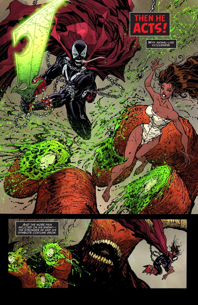 In 'Spawn' (2016) #262, Spawn cuts off Satan's finger to save Wanda from Satan's clutches.