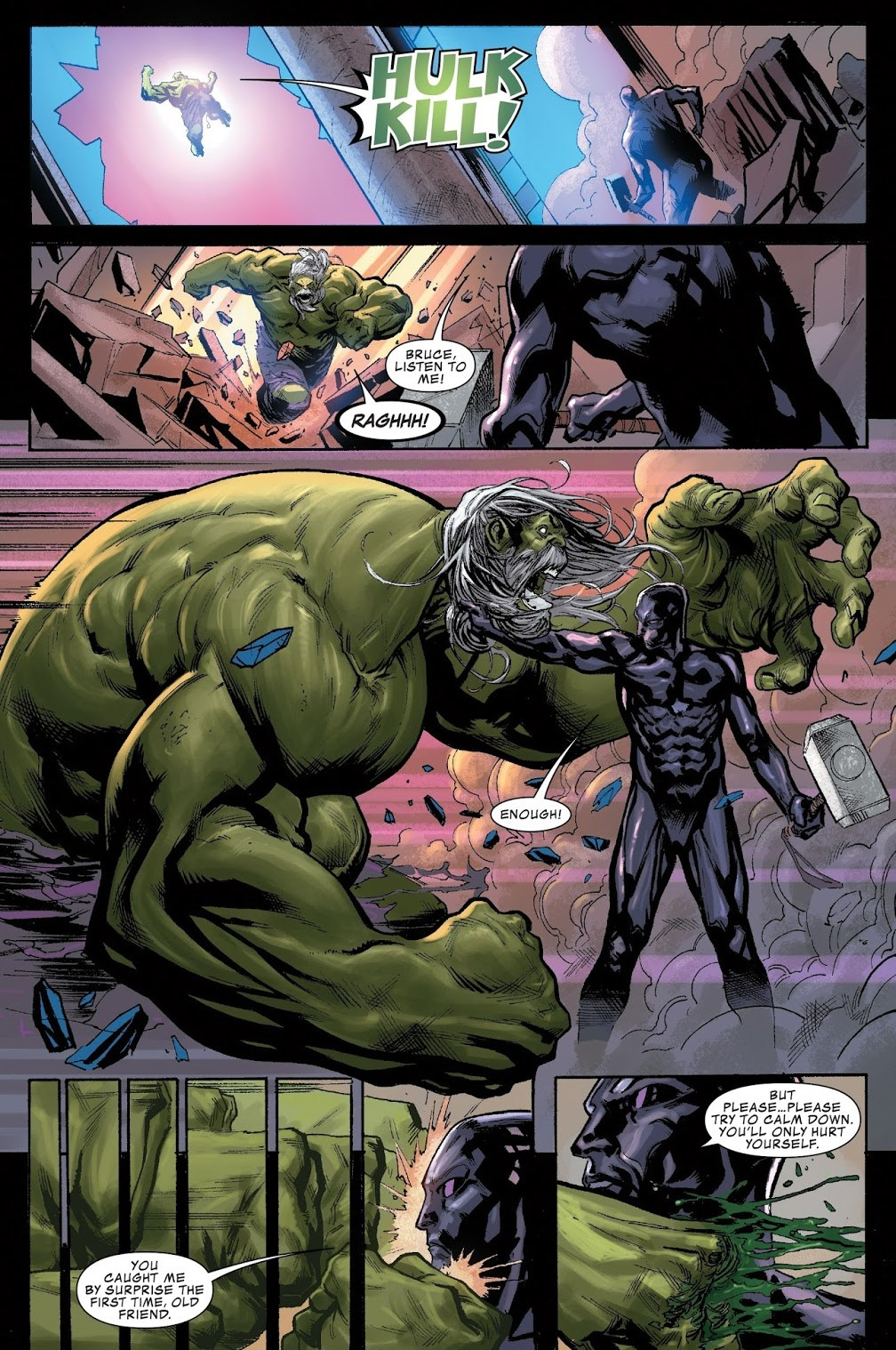 In 'Thanos' (2018) #17, Silver Surfer (The Fallen One) falls into a trap set by Thanos before facing future Thanos.