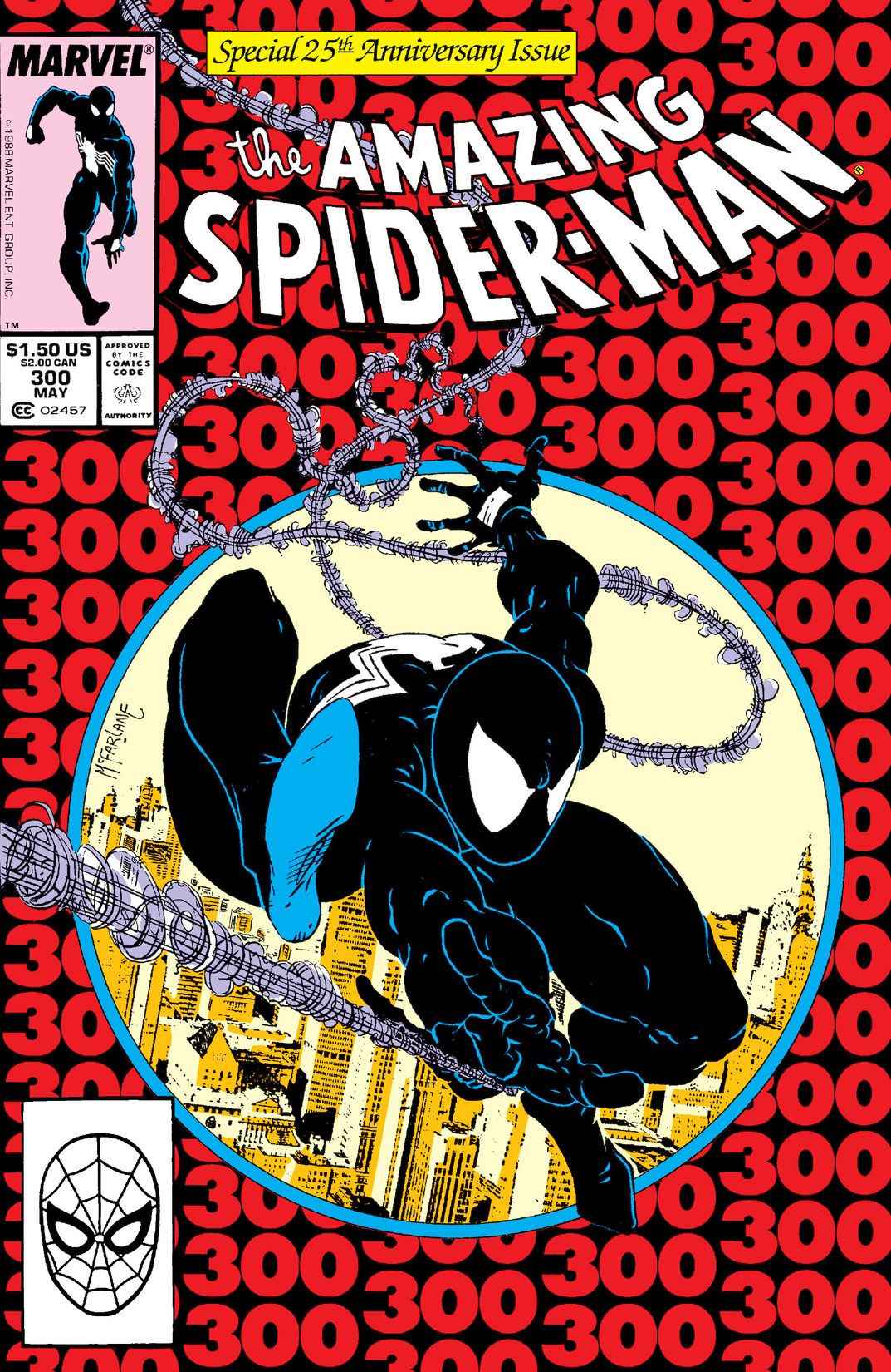 'Amazing Spider-Man' (1988) #300, marks the first appearance of Venom in Marvel continuity.