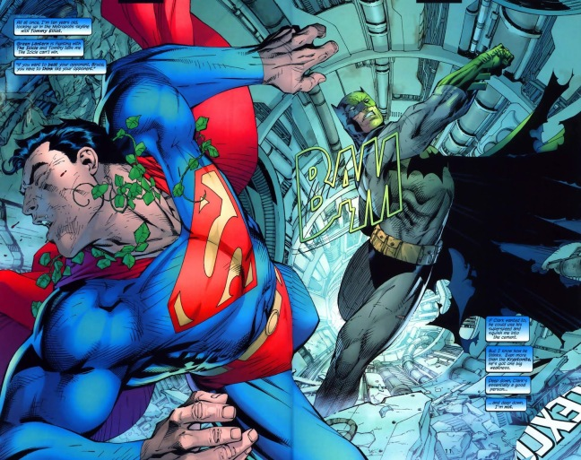 In 'Batman' (2003) #612, Batman punches a mind-controlled Superman with a Kryptonite ring.