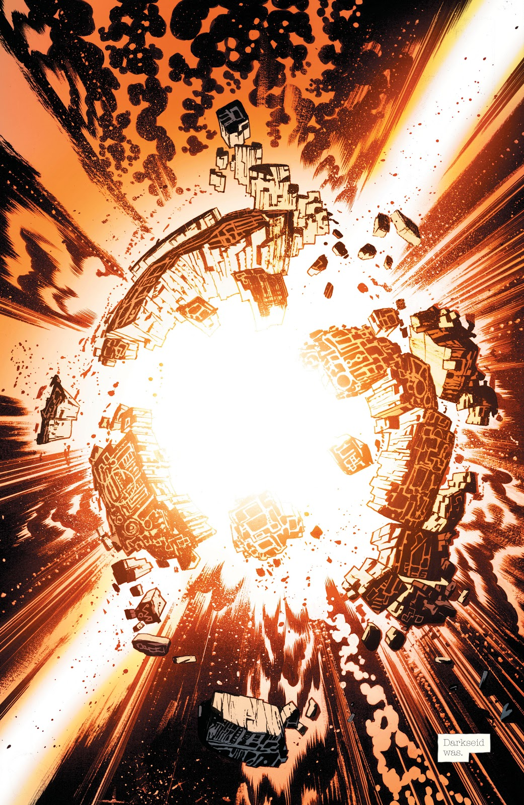 In 'DCeased' (1999) #1, Darkseid is infected with the Anti-Life Equation virus and destroys Apokolips with the Omega Effect.
