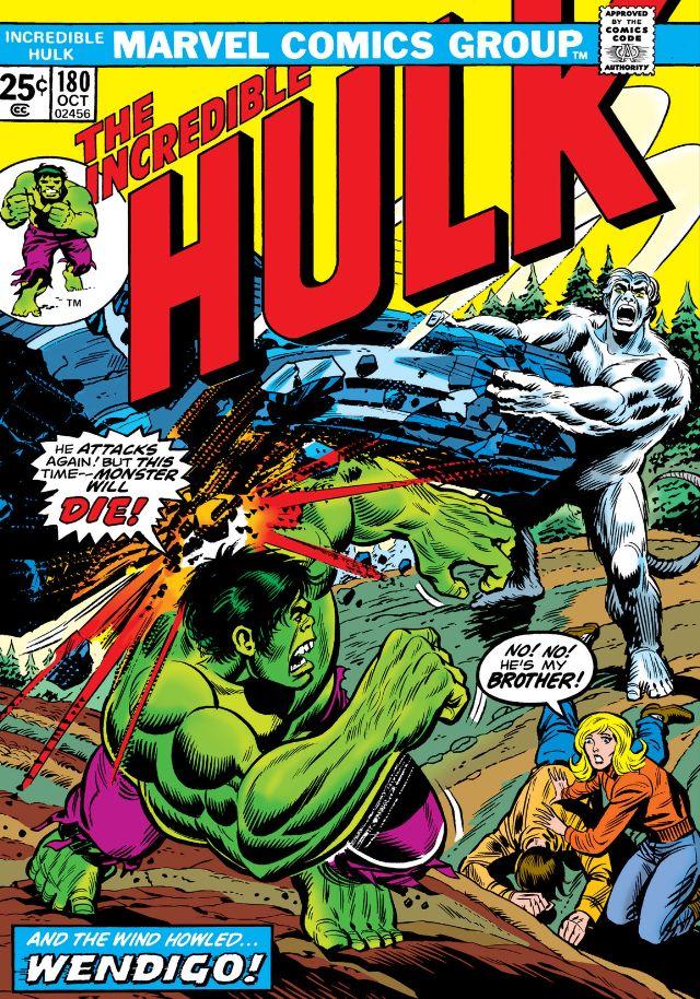 In 'Incredible Hulk' (1974) #180, Hulk faces Wendigo and Weapon X.