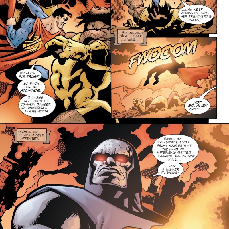 In 'Our Worlds At War: Man Of Steel' (2001) #116, Darkseid fells Superman with the Omega Effect.