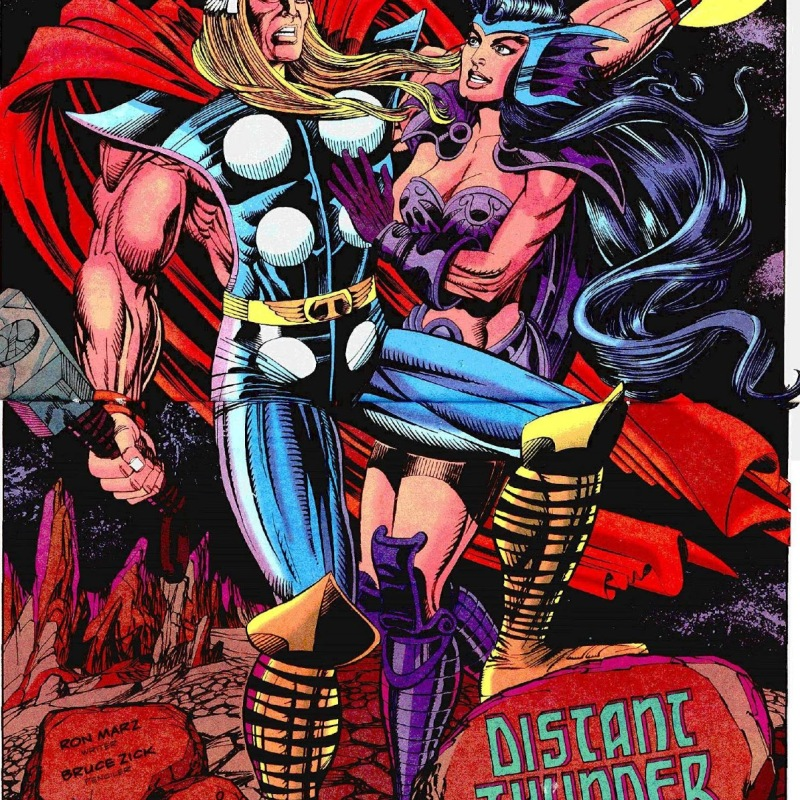 Thor has fallen into the Warrior Madness and is in love with the Mind Valkyrie.