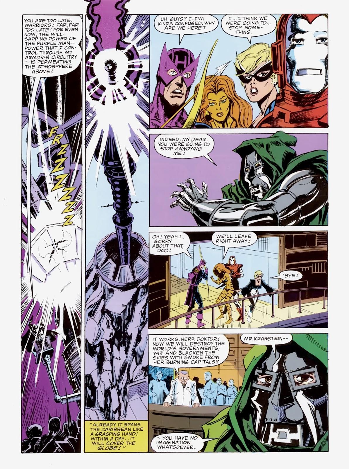 """In """"Emperor Doom"""" (1987), Doctor Doom conquers the Avengers."""
