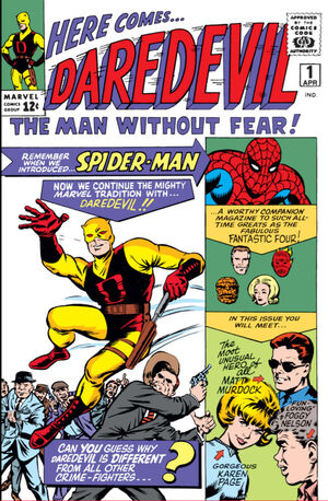 'Daredevil' (1964) #1, marks the first appearance of Daredevil in Marvel continuity.