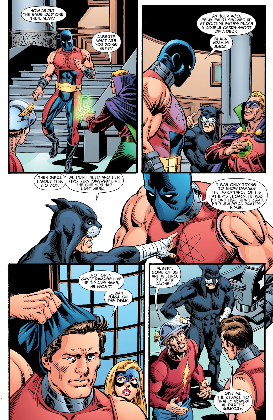 In 'Justice Society Of America' (2009) #23, Atom Smasher wants to rejoin the JSA.