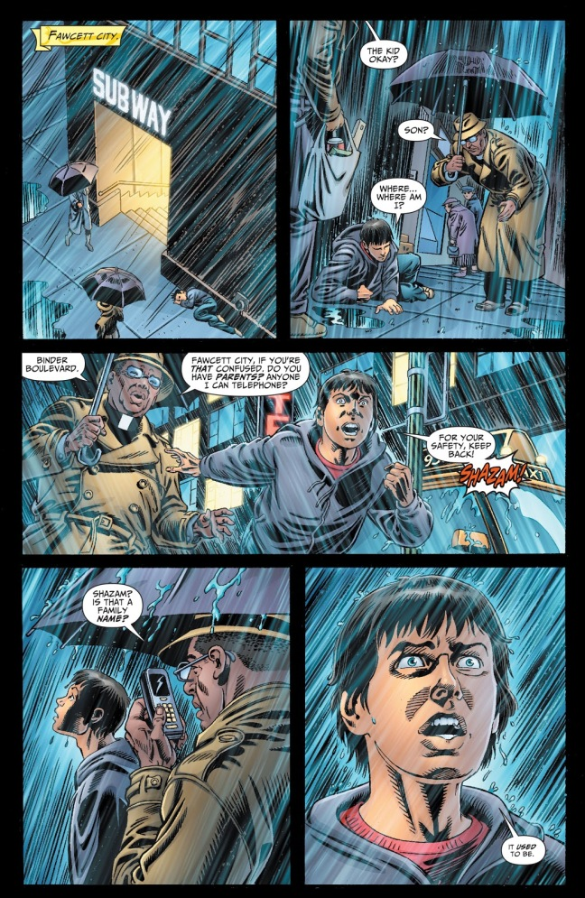 In 'Justice Society Of America' (2009) #23, Billy Batson can no longer say the magic word.