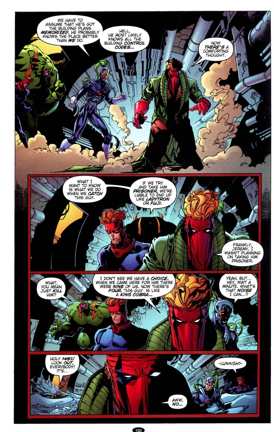 In 'WildC.A.T.s: Covert Action Teams' (1997) #34, the WildC.A.T.s. are on the hunt for Tao.